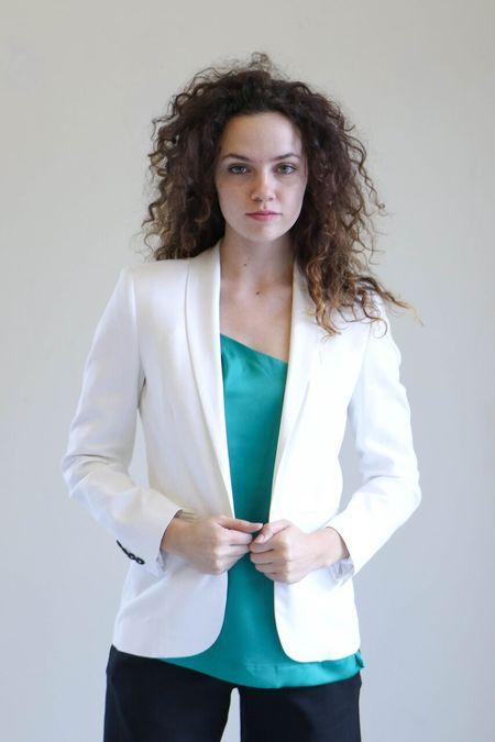 Heidi Merrick Ile Blazer in White