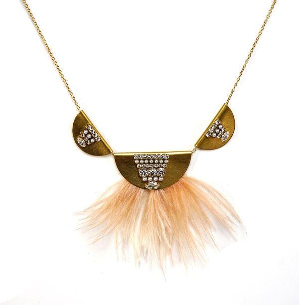 Snowy Crane Necklace