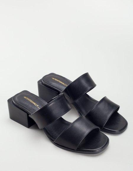 """Intentionally __________."" Hall Sandal - Black"