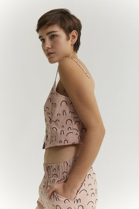 Ursa Minor Cate Crop Top - Rose Print