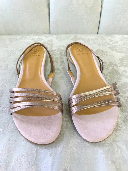 Coclico Fizz Sandal in Rose Metallic Leather
