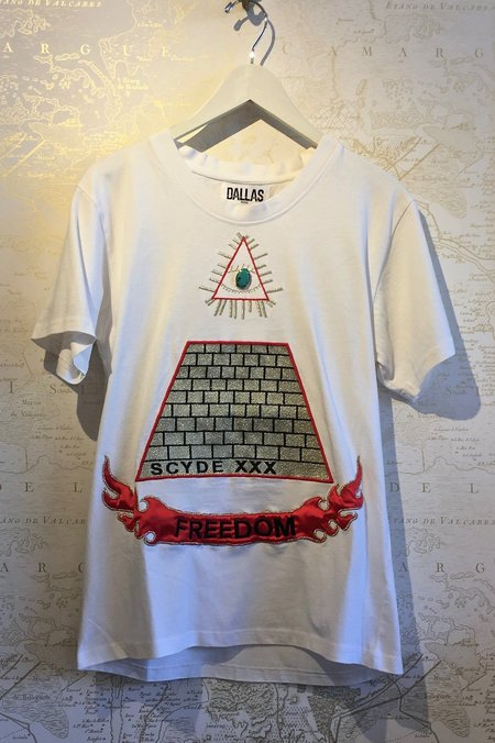Dallas 'Rosanna' Freedom Pyramid Tee - White
