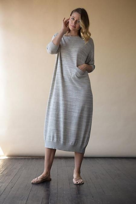 Lauren Manoogian Crewneck Dress - Stone Crudo