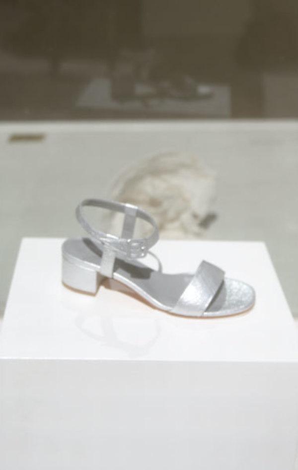 Maryam Nassir Zadeh Sophie Sandal - Silver Crinkle