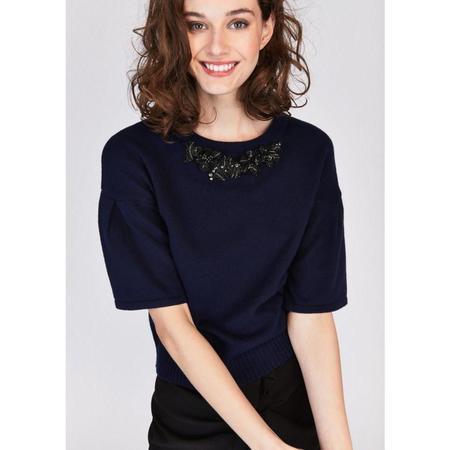 Tara Jarmon Adorned Sweater