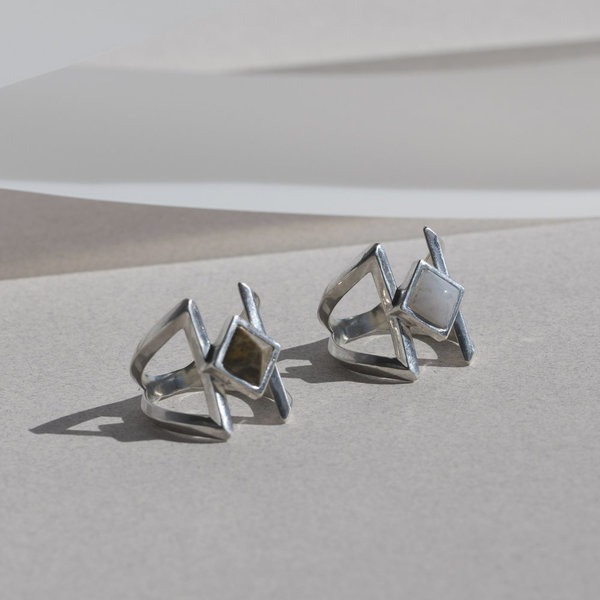 Pyramid Ring - Sterling Silver
