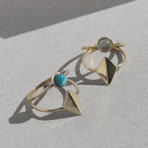 Lindsay Lewis Dia Ring - Brass