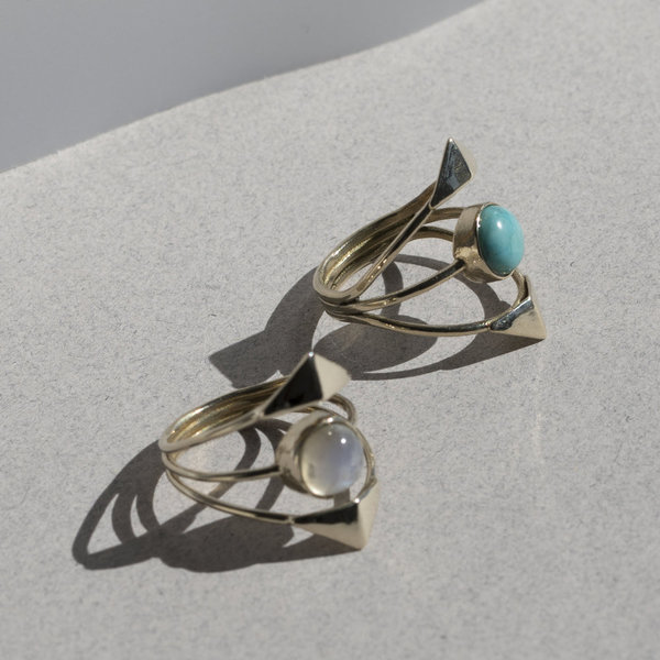 Lindsay Lewis Double Dia Ring