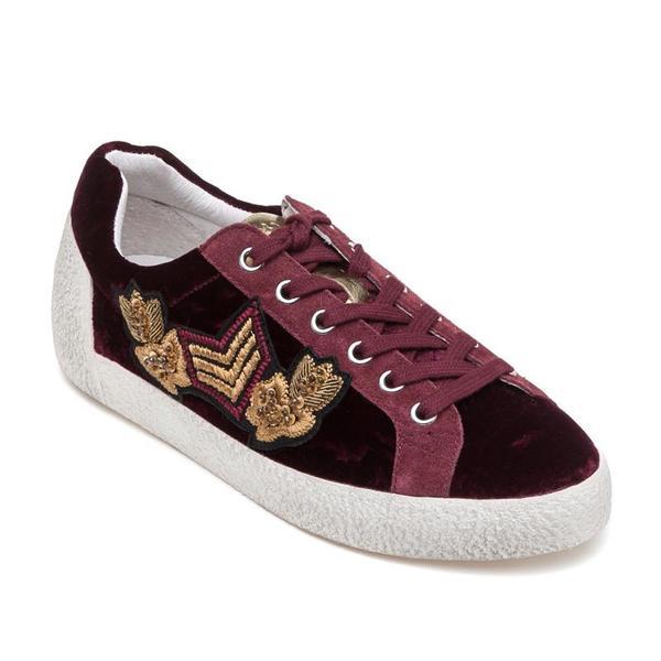 Ash Nad Arms Bordeaux Barolo Velvet Sneaker