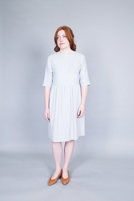 Ode to Sunday Colette Dress Blue Grey