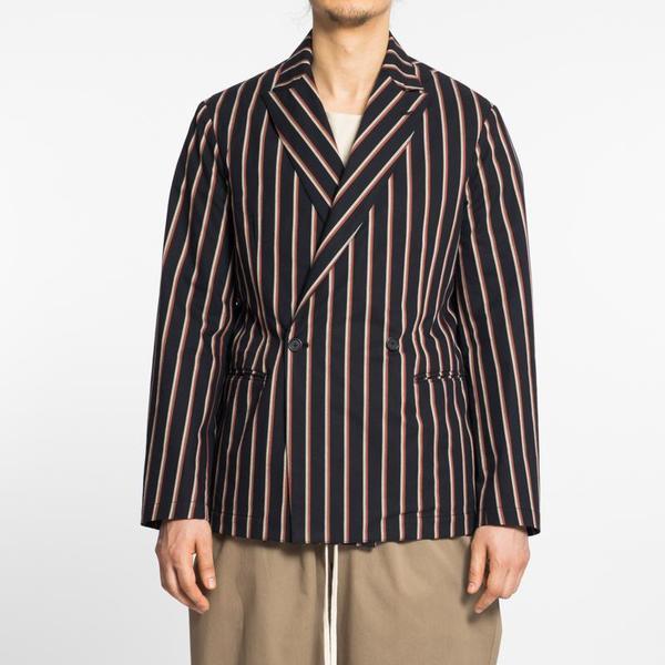 S.K. Manor Hill Darwin Blazer - Navy/Orange Stripe