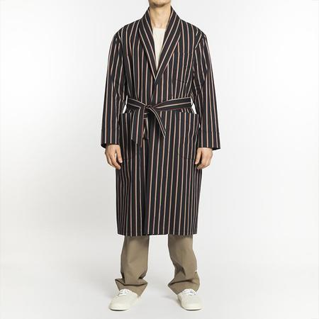 S.K. Manor Hill Dynasty Robe - Navy/Orange Stripe