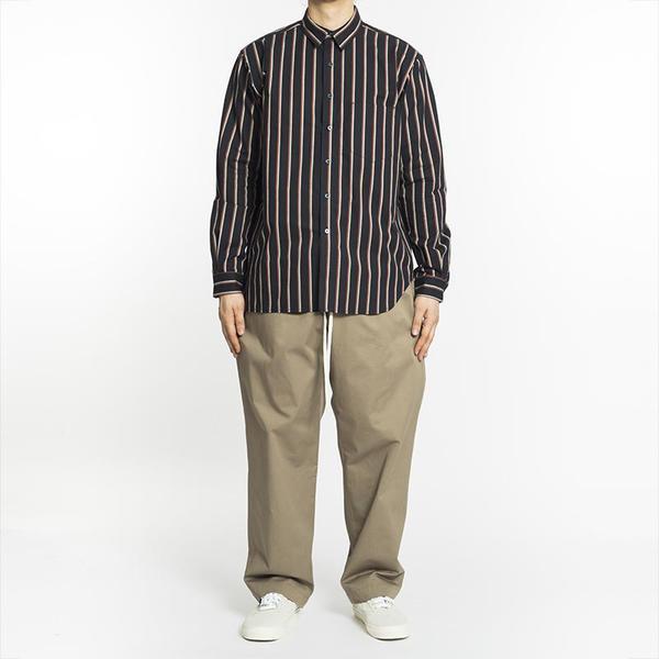 S.K. Manor Hill Egon Shirt - Navy/Orange Stripe Shirt
