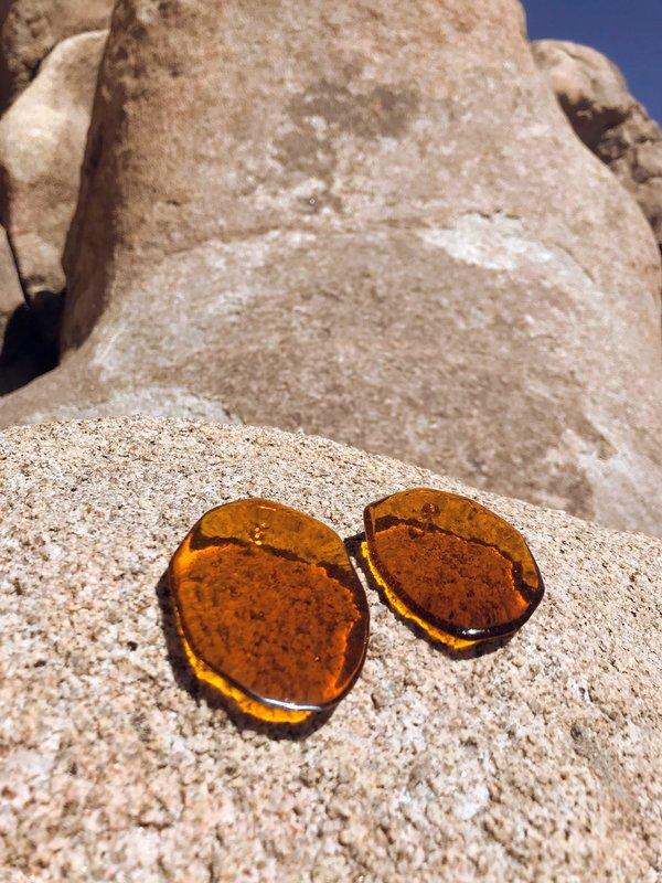 Julie Thevenot Reflection Earrings - Amber