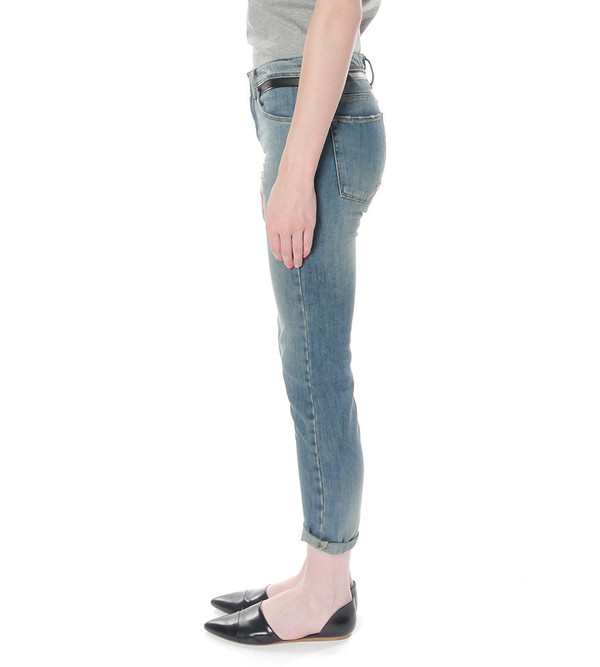 Each X Other Slouchy jeans with leather band