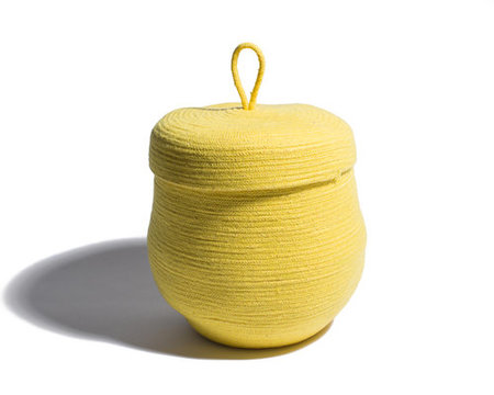 Ugly Rugly Yellow Basket With Lid