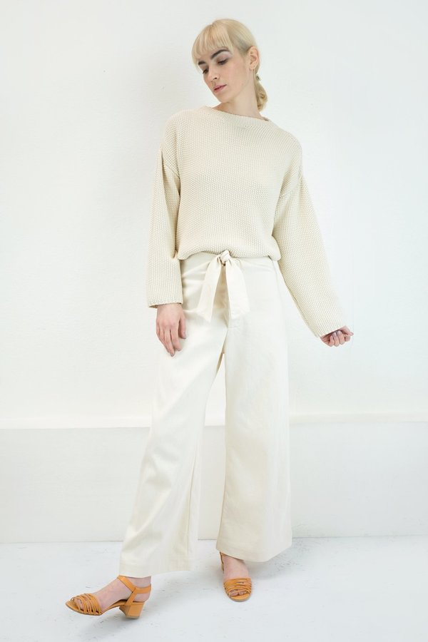 Micaela Greg Knotted Sailor Pant - Cream