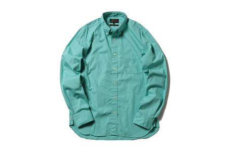 Beams + Color Broad Shirt - Light Green