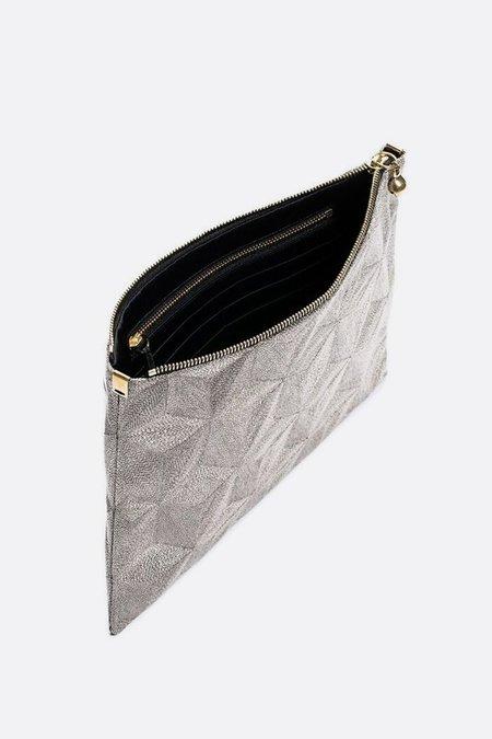Anne Grand-clément Plain Iron Metallic Extra Medium Pouch
