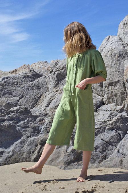 Town Clothes Market Jumpsuit - Saguaro Green
