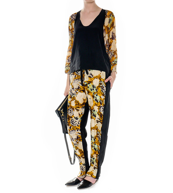 Raquel Allegra Silk Printed Pants