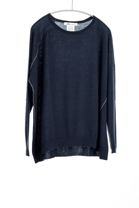 Paychi Guh Cashmere Panel Top - Coal