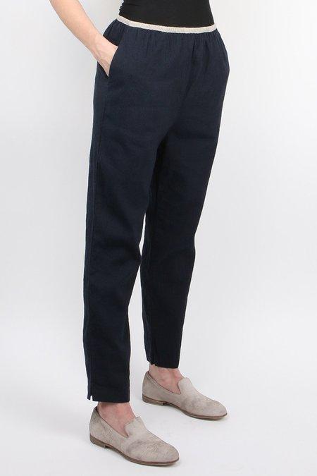 Pomandere Cotton Blend Pant - Navy