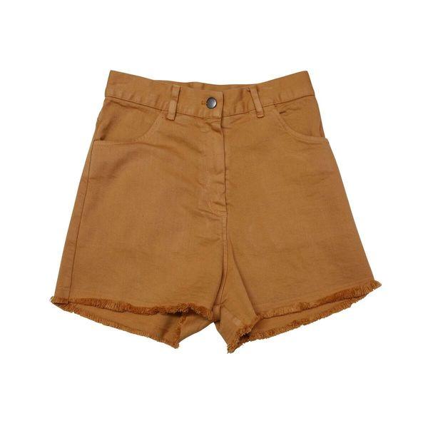 Nico Nico Fern High Waisted Cut Off Shorts - Twig