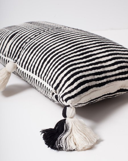 Archive New York Antigua Pillow in Black and White