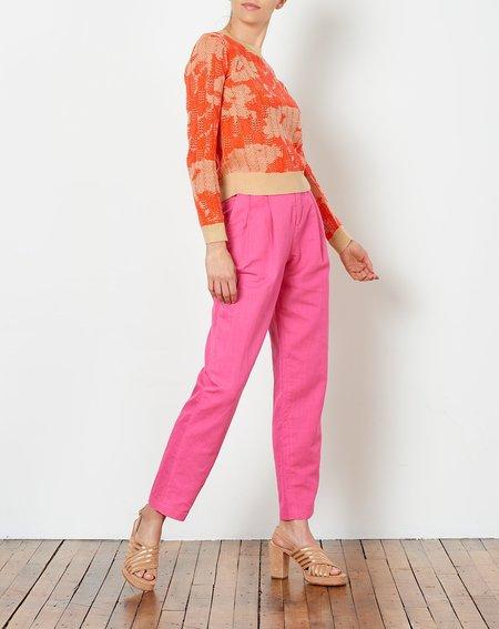 Rachel Antonoff Bea Pleated Suit Pant - Fuchsia