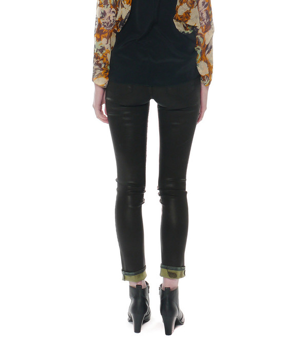 Theyskens Theory Pathen Wintage Coated Jeans