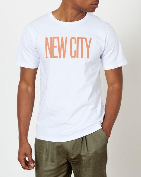 Saturdays NYC New City Short Sleeve Tee - White