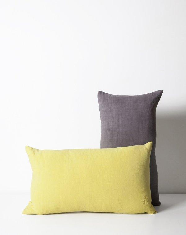 Hawkins New York Simple Linen Pillow in Dark Grey
