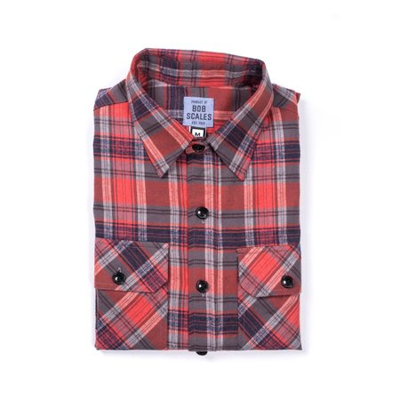 Product of Bob Scales Flannel Workshirt - Rust Plaid