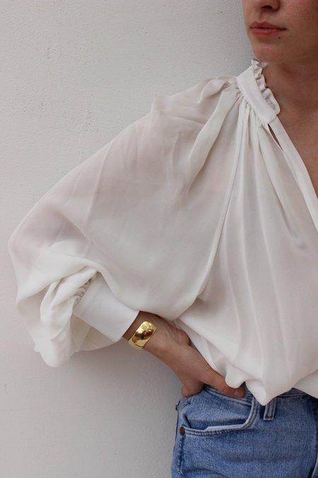Voz Bishop Sleeve Blouse - Ivory