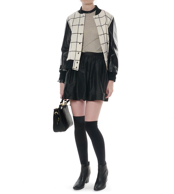 Helmut Lang Leather and Angora Top