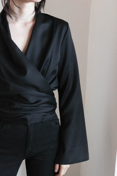 VOZ Wrap Blouse - Black