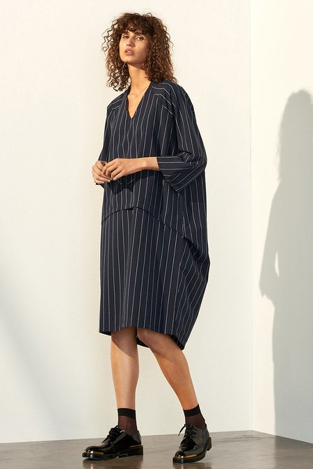Time Dress - pinstripe