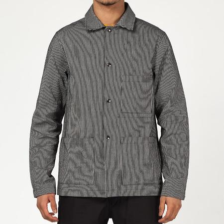 {ie Utility Jacket - Black/Hickory Stripe