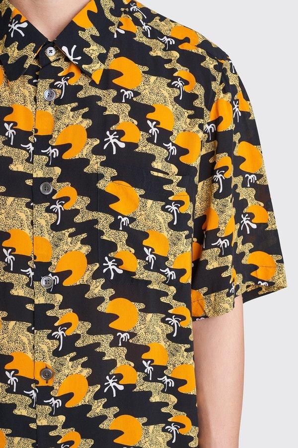 Tres Bien Tourist Viscose Shirt - Sunset Print Orange