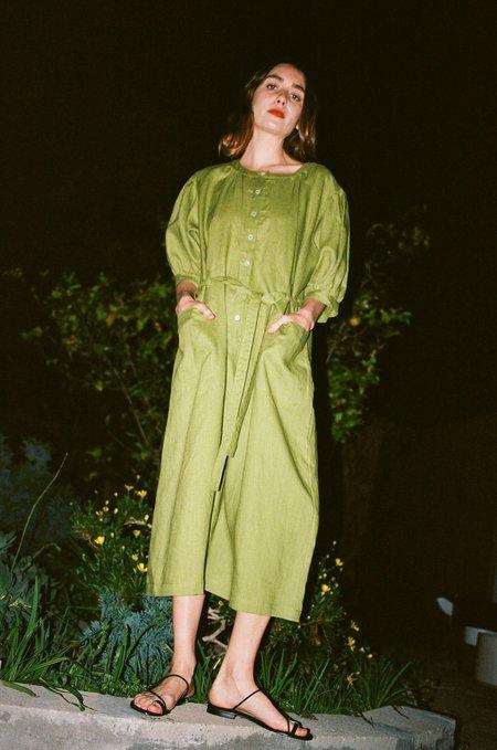 Town Clothes Market Jumpsuit - Chartreuse