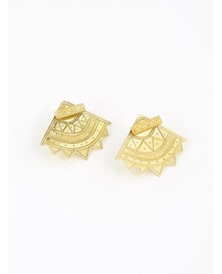 Ombre Claire Poesie Earrings - Gold Vermeil