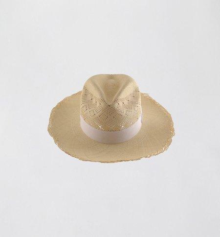 G.Viteri Semi Calado Frayed Hat