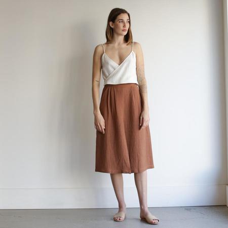 First Rite Pleated Skirt - Adobe
