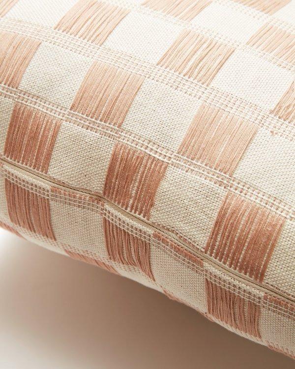 Minna Nahuala Grid Pillow - Peach