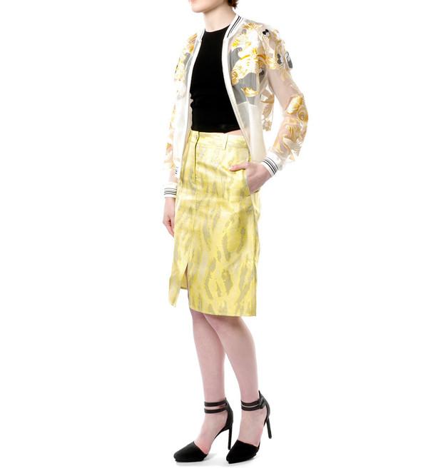 3.1 Phillip Lim Woodgrain Skirt