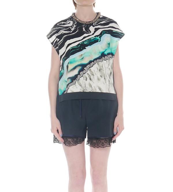 3.1 Phillip Lim Geode Print Top