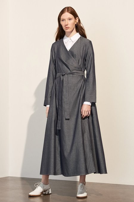 Kowtow Bausch Dress in Chambray