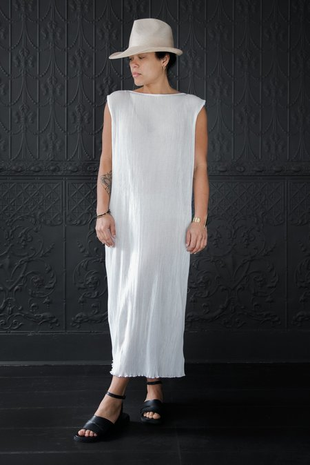 Lauren Manoogian Accordian Caftan - White