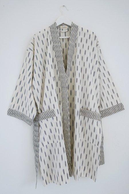 Karu Ikat Robe - Ivory